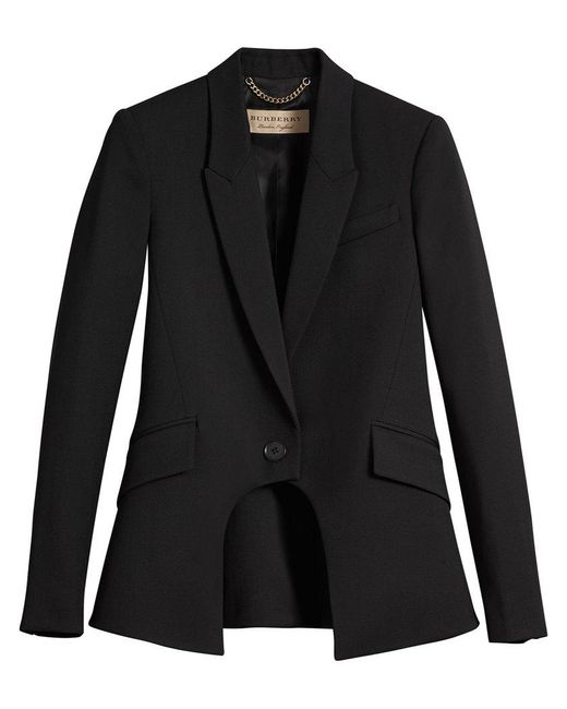 Burberry - Black Tailored Riding Jacket - Lyst