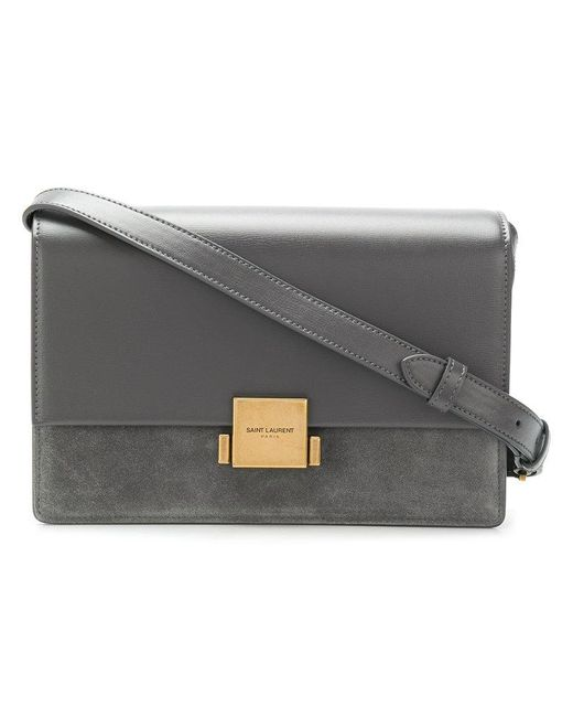 Saint Laurent - Gray Medium Bellechasse Shoulder Bag - Lyst