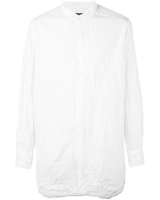 Casey casey crisp light shirt in white for men lyst for Crisp white cotton shirt