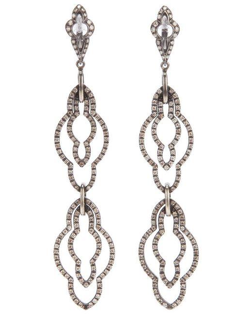 Loree Rodkin - Metallic Drop Diamond Earrings - Lyst