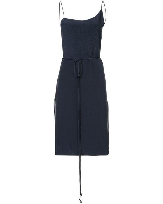 Kacey Devlin - Blue Asymmetrical Wrap Dress - Lyst