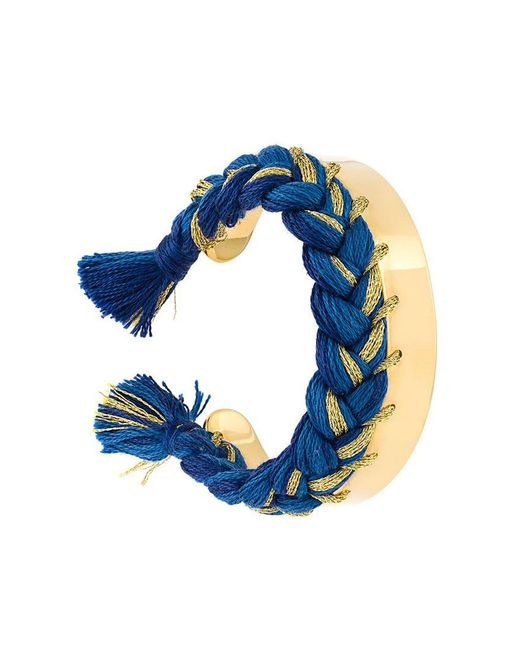Aurelie Bidermann - Blue Braided Cuff Bracelet - Lyst