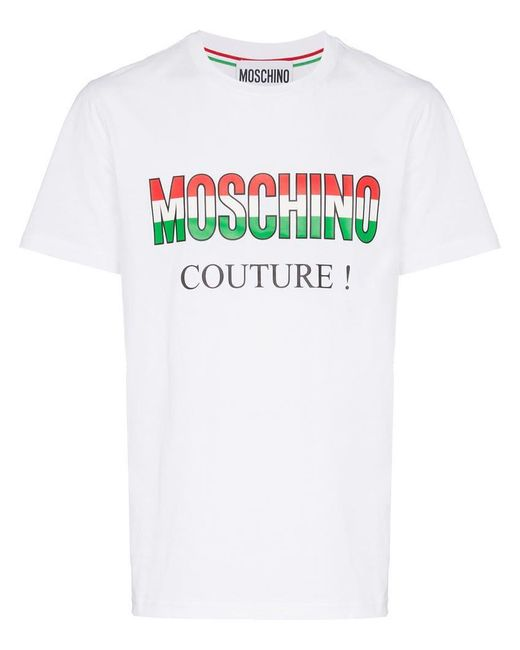 Moschino - White T-Shirt mit Logo for Men - Lyst