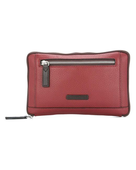 Cerruti 1881 - Red Zipped Clutch for Men - Lyst