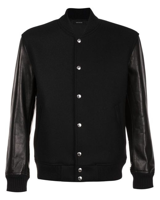 Christian Dada | Black Classic Stadium Jacket for Men | Lyst