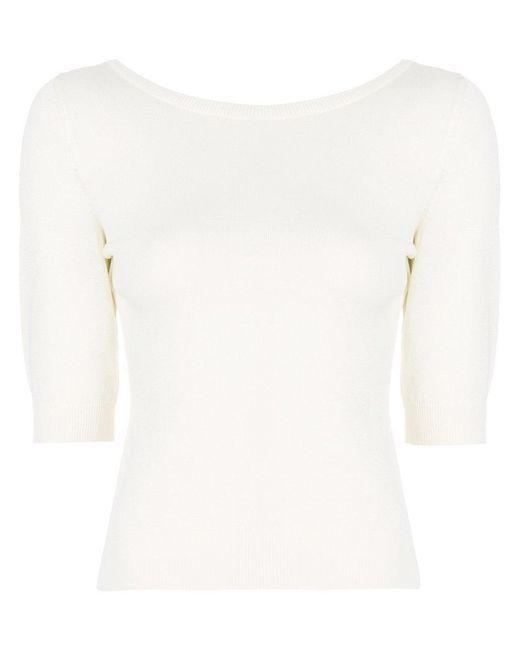 Moschino - White Fine Knit Sweater - Lyst