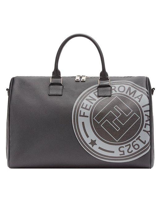 6d6d46926a82 Fendi - Black Logo Print Satchel for Men - Lyst ...