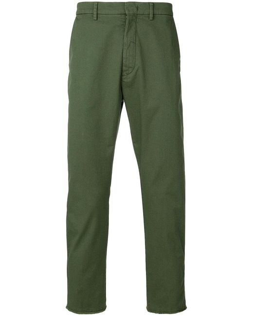 Pence - Green Cropped Trousers for Men - Lyst