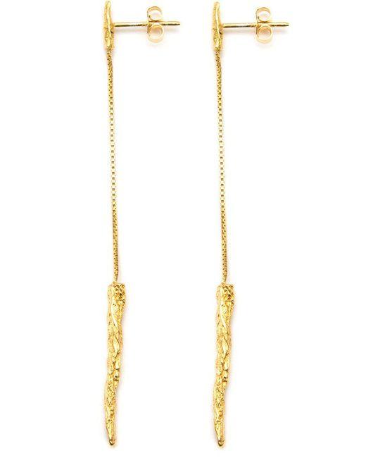 Niza Huang | Metallic 'illusion Long Drop' Earrings | Lyst