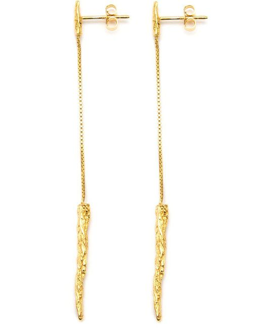 Niza Huang | Metallic 'illusion Long Drop' Earrings | Lyst