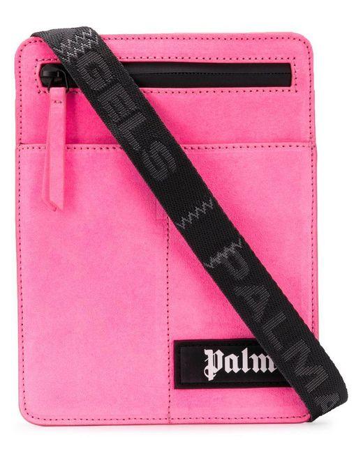 Palm Angels - Pink Sac à bandoulière en daim for Men - Lyst