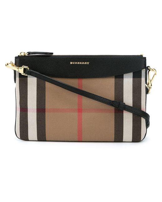 Burberry   Black House Check Crossbody Bag   Lyst