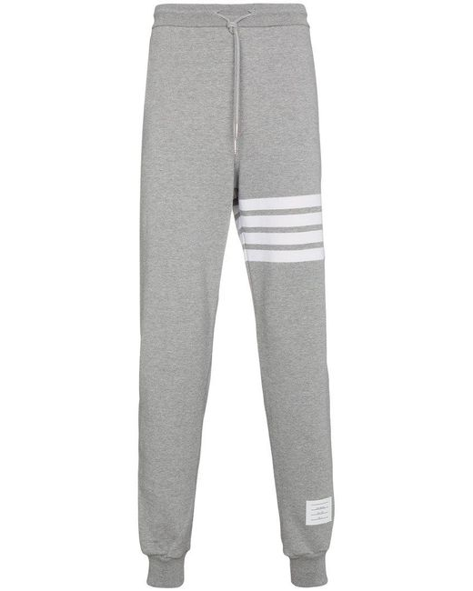 Thom Browne | Gray Sweatpants With Engineered 4-bar Stripe for Men | Lyst