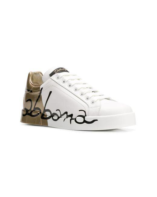 ebc63c0207 Dolce & Gabbana Logo Sneakers in White - Save 39% - Lyst