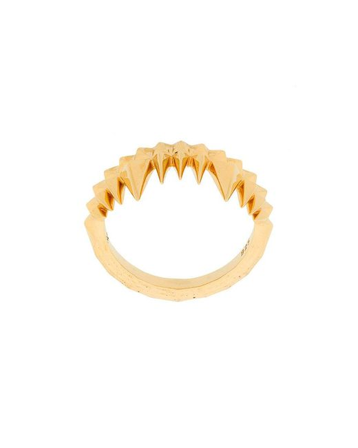 Kasun - Metallic Crocodile Bite Ring - Lyst