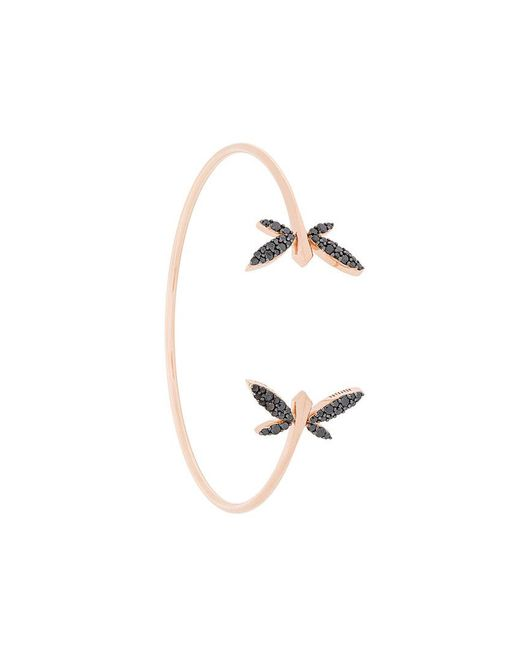 Anapsara - Metallic Double Dragonfly Bracelet - Lyst