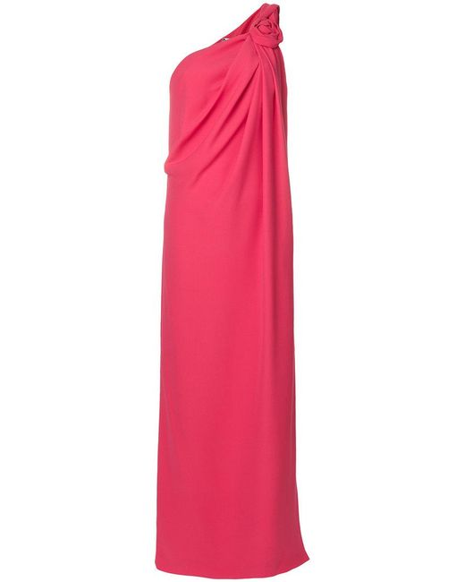 Lanvin | Pink One Shoulder Gown | Lyst