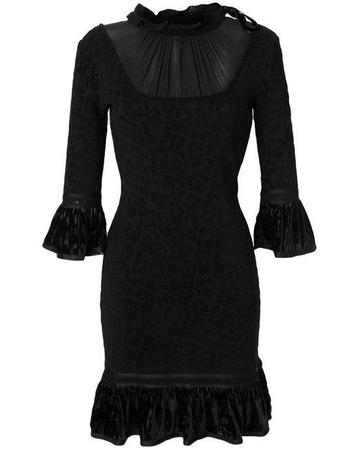 Roberto Cavalli   Black Flared Dress   Lyst