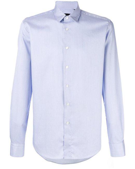 Dell'Oglio - Blue Curved Hem Shirt for Men - Lyst