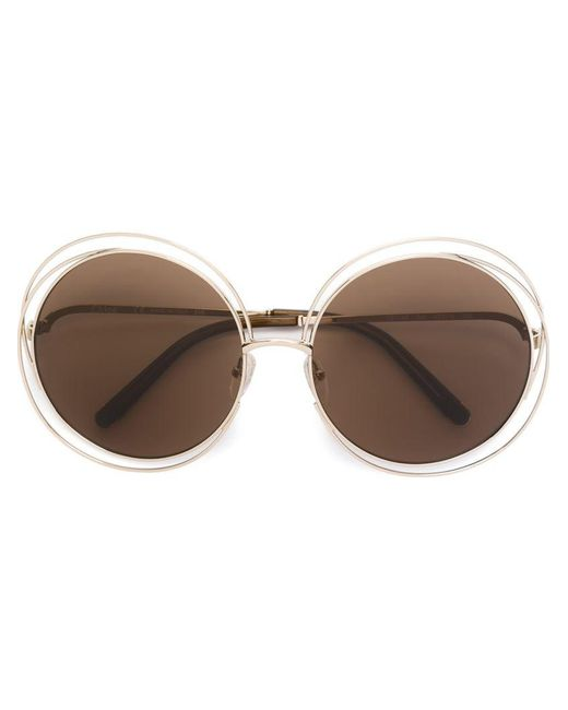 Chloé | Metallic 'carlina' Sunglasses | Lyst