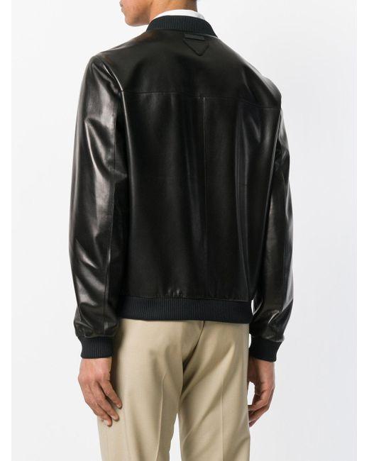 bdf7824717cd ... Prada - Black Bomber Jacket for Men - Lyst
