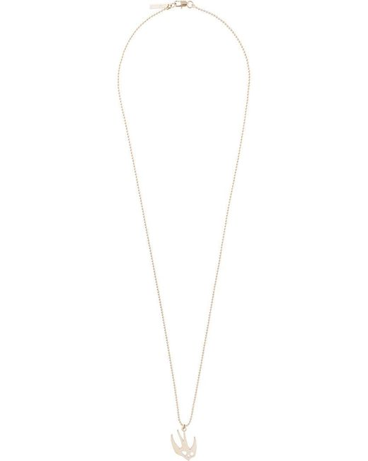McQ Alexander McQueen - Metallic Swallow Necklace - Lyst