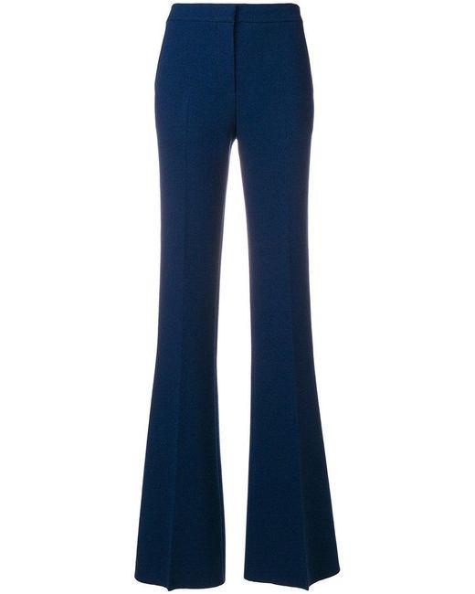 Emilio Pucci - Blue High Rise Flared Trousers - Lyst