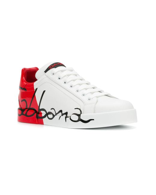 23245af007 Dolce & Gabbana Portofino Sneakers in White - Save 8% - Lyst