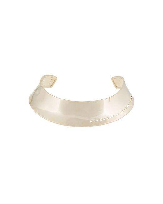 Lanvin - Metallic Wide Choker Necklace - Lyst