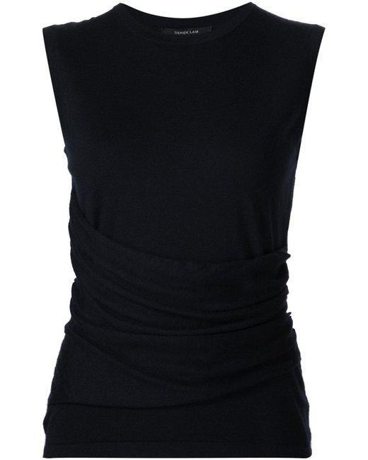 9dfb407242827 Derek Lam - Blue Knitted Round Neck Top - Lyst ...