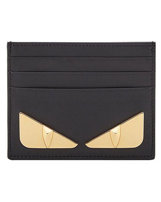 Fendi - Black Bag Bugs Cardholder for Men - Lyst