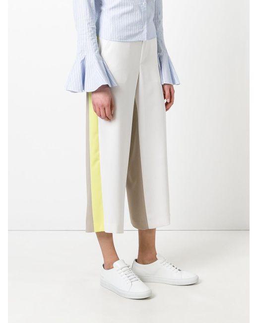 side stripe cropped trousers - Nude & Neutrals Pinko rxNFogz