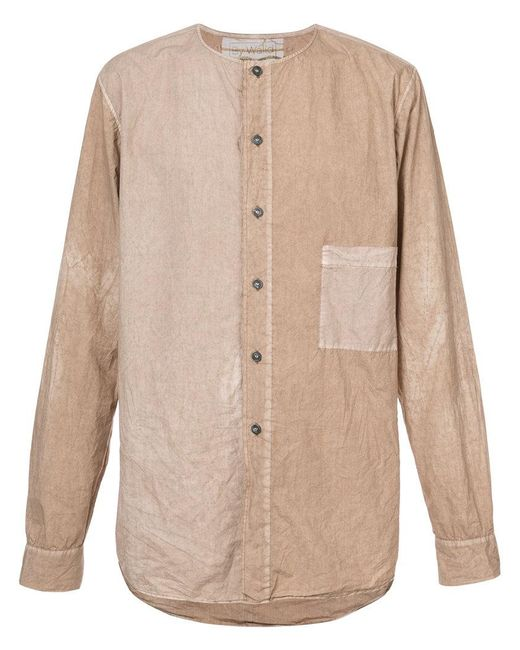 By Walid   Natural Faded Pocket Shirt for Men   Lyst