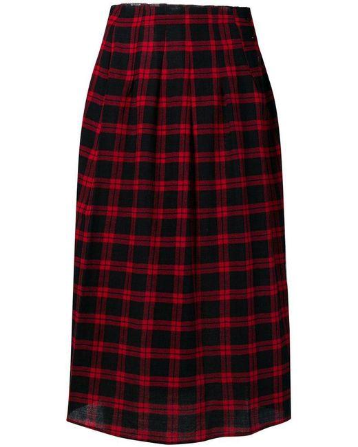 Bellerose - Blue Tartan Pleated Skirt - Lyst