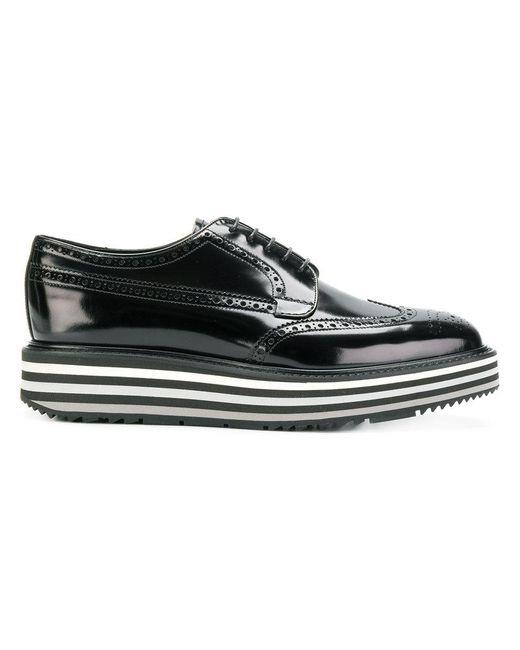 Prada - Black Lace-up Platform Shoes for Men - Lyst