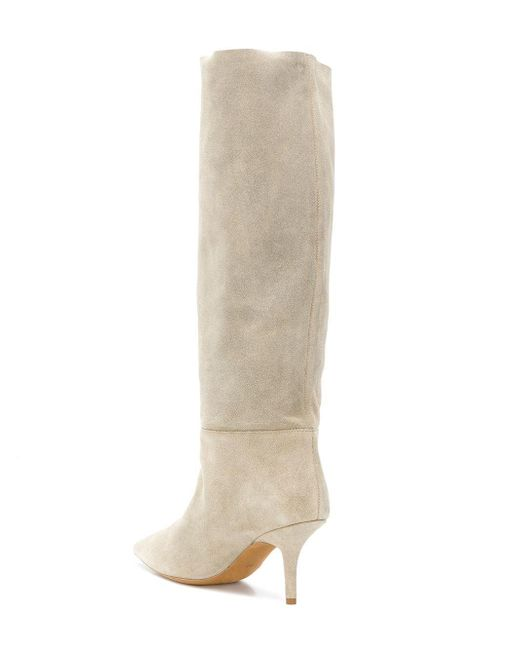 f303718e3bb Lyst - Yeezy Knee-high Boots in Natural - Save 64.71544715447155%