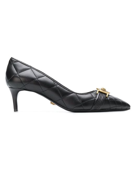 Versace - Black Quilted Icon Pumps - Lyst