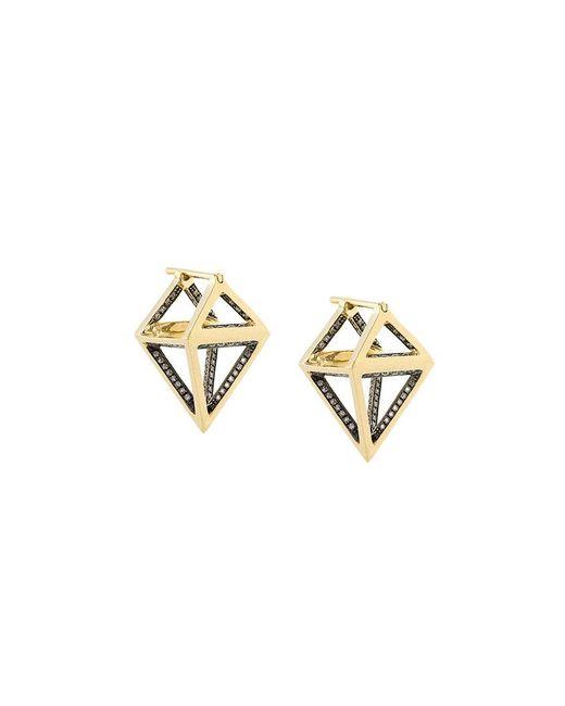 Noor Fares - Metallic Octahedron Dormeuse 3d Earrings - Lyst