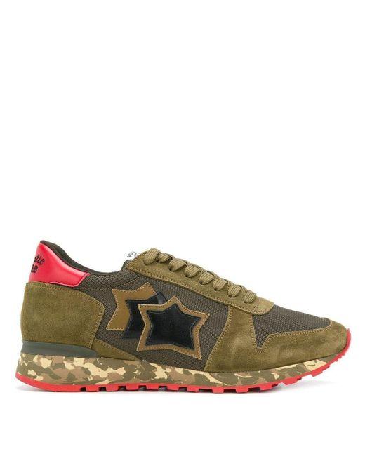 Atlantic Stars Green Argo Sneakers for men