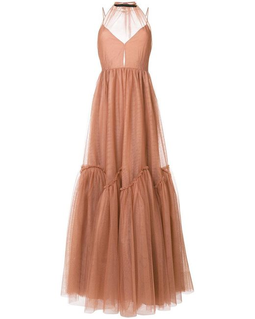 N°21 | Brown Backless Tulle Gown | Lyst