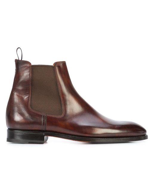 Bontoni - Brown Cavaliere Chelsea Boots for Men - Lyst