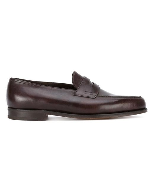 John Lobb - Brown Classic Loafers for Men - Lyst