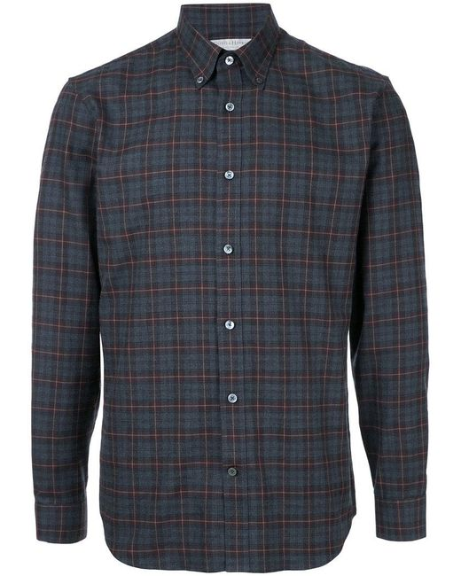 Gieves & Hawkes - Gray Plaid Shirt for Men - Lyst