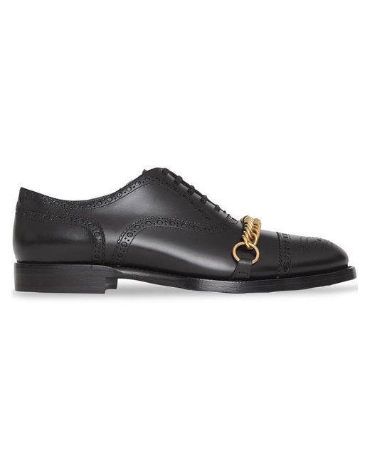Burberry - Black Loafer mit Zierkette for Men - Lyst