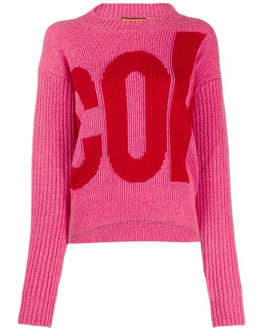 Colville Pink Logo Embroidered Sweater