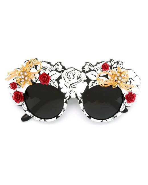 Dolce & Gabbana | Black 'mama's Brocade' Limited Edition Sunglasses | Lyst