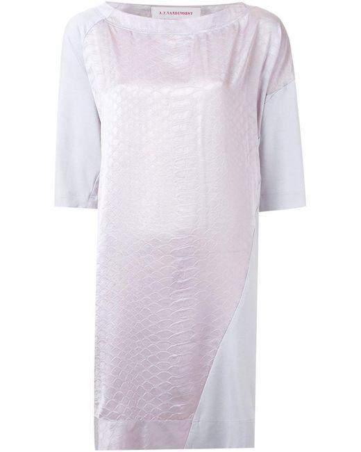 A.F.Vandevorst - Pink 'fairest' Dress - Lyst