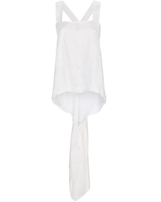 Givenchy - White Square Neck Jacquard Top - Lyst