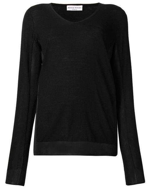 Sonia Rykiel - Black V-neck Pullover - Lyst