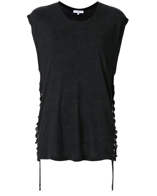 IRO   Gray Tie Detail T-shirt   Lyst